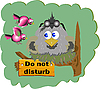 Vector clipart: little cuckoo