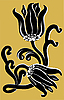 Vector clipart: black lily