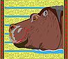 Vector clipart: happy hippo