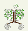 Vector clipart: tree with sewing zipper