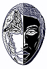 Vector clipart: black and white mask