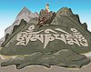 Vector clipart: mountains of Tibet