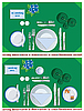 Vector clipart: served dinner table