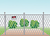 Vector clipart: mesh fence