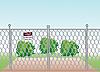 Векторный клипарт: сетчатым забором