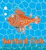 Vector clipart: barbed fish
