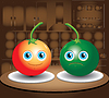 Vector clipart: two tomatoes