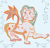 Векторный клипарт: славянского лев