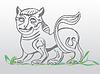 Vector clipart: dark lion