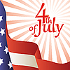Vector clipart: 4th of July. American flag