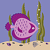 Vector clipart: pink fish
