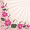 Vector clipart: Rose flowers as corner