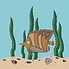 Vector clipart: brown fish