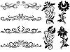 Horizontale Ornamente | Stock Vektrografik