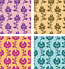 Vector clipart: seamless floral patterns