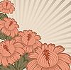 Vector clipart: Vintage floral design