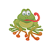 Vector clipart: Cartoon frog