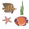 Vector clipart: marine life