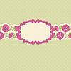 Vector clipart: flower greeting card with frame