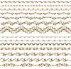 Horizontale Dekoration-Elemente | Stock Vektrografik