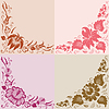 Vector clipart: Flowers on beige background