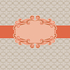 Vector clipart: Template frame design for greeting card