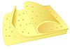 Vector clipart: Cheese slices