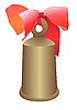 Vector clipart: Hand bell with bow