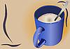 Cappuccino mug | Stock Vector Graphics
