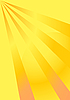 Vector clipart: Yellow rays