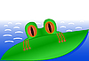 Vector clipart: Green Frog