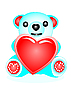 Vector clipart: Bear with heart