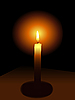 Vector clipart: Candle in dark