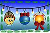 Векторный клипарт: Новогодние игрушки