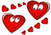 Векторный клипарт: Влюбленные сердечки
