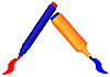 Vector clipart: Two markers
