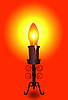 Vector clipart: Lamp-candle