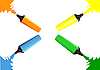 Vector clipart: Set of markers