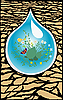Vector clipart: environment in drop