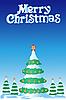 Vector clipart: Christmas fur-tree
