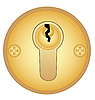 Vector clipart: Gold keyhole