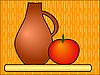 Vector clipart: Jug with tomato