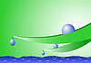 Vector clipart: Leaves and water droplets