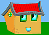 Векторный клипарт: Мультяшный домик