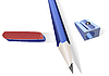 Pencil, pencil sharpener and an elastic band   Stock Vector Graphics