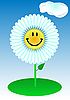 Vector clipart: Funny flower