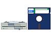 오래된 플로피 드라이브와 플로피 디스크 | Stock Vector Graphics