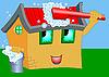 Vector clipart: Wash cartoon house