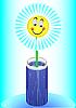 Vector clipart: Funny flower in vase