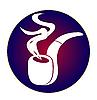 Векторный клипарт: Эмблема курительной трубки с дымом